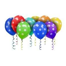 Воздушные шары под потолок Точки