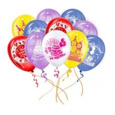 Шары под потолок На день рождения ассорти