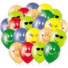 Воздушные шары Смайлы Ассорти