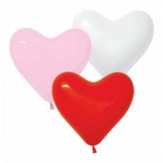 Воздушные шары Сердца Ассорти