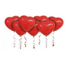 """Воздушные шарики под потолок """"Сердечки красные"""""""