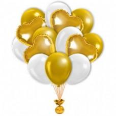 Букет с Золотыми Сердцами 20+5