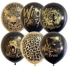 "Шары ""Black&Gold Wild Party"""