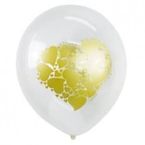 """Воздушные шары """"Сердце Золото"""""""