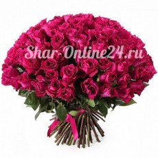 Букет роз цвета фукисия Premium