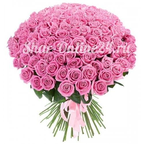 Букет розовых роз Premium
