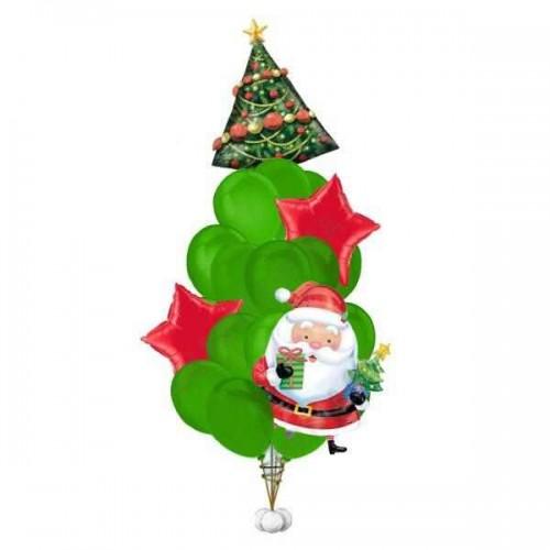 """Букет шаров """"На новый Год с Дедом Морозом"""""""