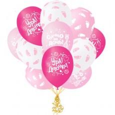 Воздушные шары Спасибо за дочку! (ассорти)