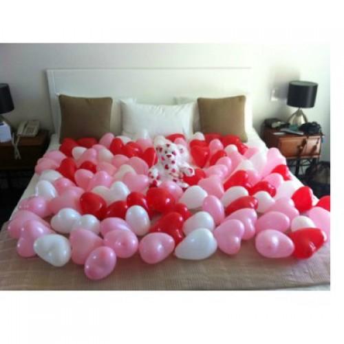 Воздушные  шары сердца